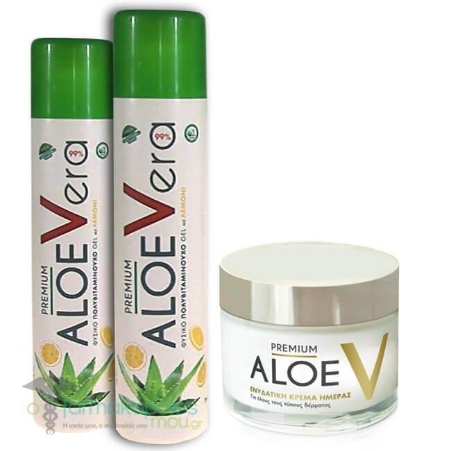 3ad48e17eb 2 x Premium Aloe V Βιολογικό Gel Αλόης Βέρα με Γλυκαντικό από Στεβία    Γεύση Λεμονι