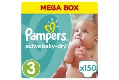 Pampers Active Baby Dry Mega Pack No.3 Midi (5-9 kg) Βρεφικές Πάνες, 150 τεμάχια