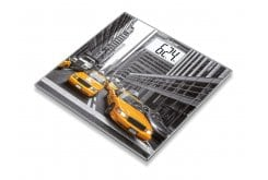 Beurer GS 203 New York Γυάλινη Απλή Ψηφιακή Ζυγαριά με Παράσταση από τη Νέα Υόρκη, 1 τεμάχιο