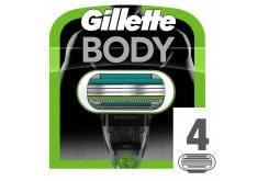 Gillette Body Ανταλλακτικές Λεπίδες Ειδικά Σχεδιασμένες για το Σώμα, 4 τεμάχια