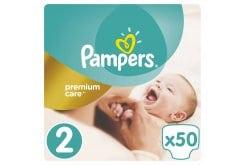 """Εικόνα του """"Pampers Premium Care Jumbo Pack No.2 (Mini) 3-6 kg Βρεφικές Πάνες, 50 τεμάχια"""""""