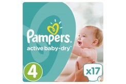 Pampers Active Baby Dry Carry Pack No.4 (Maxi) 8-14 kg Βρεφικές Πάνες, 17 τεμάχια