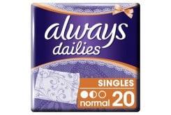 Always Dailies Normal Σερβιετάκια για Καθημερινή Χρήση, 20 τεμάχια