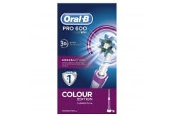 Oral-B PRO 600 Cross Action Electric Toothbrush- Colour Edition Pink, 1 pc