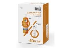 Roc Promo Pack με Soleil Protect Anti-Ageing Illuminating Fluid SPF50+ Αντιηλιακή Κρέμα Προσώπου με αντιρυτιδική δράση & χρώμα, 50ml & Soleil Protect Lotion Body Spray SPF30 Αντηλιακό Γαλάκτωμα Σώματος, 200ml