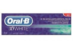 OralB 3D White Revitalize Λευκαντική Οδοντόκρεμα, 75ml