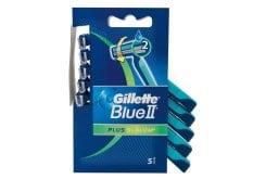 """Εικόνα του """"Gillette Blue II Plus Slalom, με 2 λεπίδες και ταινία από Aloe για προστασία του δέρματος από τους ερεθισμούς, 5τμχ"""""""