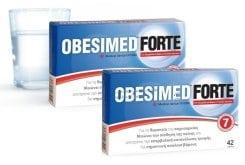 2x Obesimed Forte, 42 κάψουλες, (1+1) Δώρο, απορροφά, µέσα σε 30 λεπτά έως µία ώρα, εκατοντάδες φορές το βάρος του σε νερό, Iατροτεχνολογικό βοήθηµα για τη θεραπεία της παχυσαρκίας.