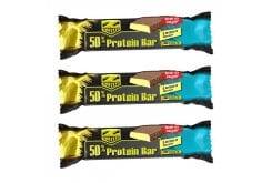 3 x Prevent Z-Konzept Protein Bar 50% Lemon Πρωτεϊνική Μπάρα, με γεύση Λεμόνι, 3 x 50gr