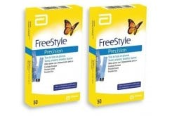 2x Abbott FreeStyle Precision 50 strips 100 (2x 50) ταινίες