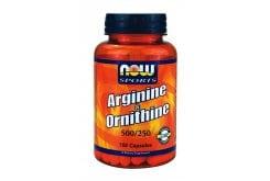 Now L Arginine & L Ornithine 500/250 mg, 100 caps