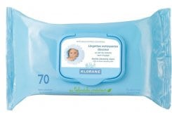 Klorane Bebe Cleansing Wipes, 70 τμχ