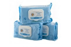 Klorane Bebe Cleansing Wipes, Gift Offer (2+1), 3 x 70 pc