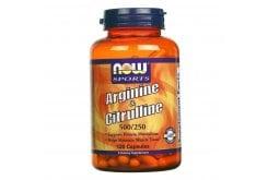 Now Arginine & Citruline 500/250mg, 120 Caps