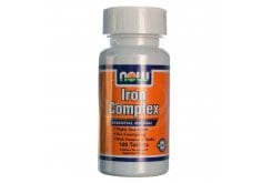 "Εικόνα του ""Now Iron Complex, w/ Vitamins & Herbs (Vegetarian), 100 tabs """