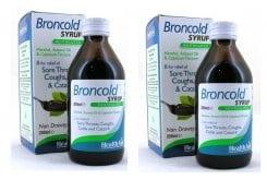 2 x Health Aid Broncold Syrup, (1+1 ΔΩΡΟ) Φυσικό καταπραϋντικό σιρόπι για τον βήχα, τον πονόλαιμο, το κρυολόγημα & την καταρροή, Με εξαιρετικές αντισηπτικές ιδιότητες για την προστασία του αναπνευστικού, 2 x 200ml