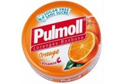 Pulmoll Orange + Vitamin C, candies and cough drops with orange flavor and Vitamin C 50g