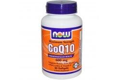 Now Co Q10 600 mg, w/ Vitamin E + Lecithin, 60 softgels