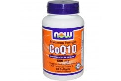Now Co Q10 600 mg, w/ Vitamin E + Lecithin, 60 softgels