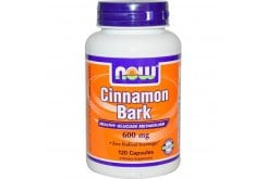 Now Cinnamon Bark 600 mg, 120 caps