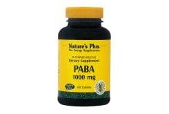 """Εικόνα του """"Nature's Plus, PABA (Para Aminobenzoic Acid) 1000mg, Αντιοξειδωτική Φόρμουλα, για το Σχηματισμό Ερυθρών Αιμοσφαιρίων, την Αντιμετώπιση της Λεύκης & την Προστασία από Ηλιακά Εγκαύματα, 60 tabs"""""""
