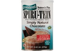 Nature's Plus, SpiruTein Simply Natural Chocolate, 370 gr