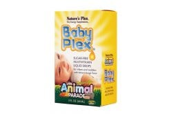 Nature's Plus Animal Parade Baby Plex Πολυβιταμινούχα Φόρμουλα σε υγρή μορφή για μωρά & μικρά παιδιά, με γεύση Πορτοκάλι, 60ml