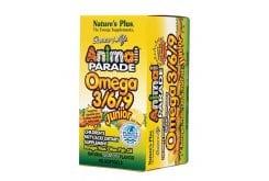 Nature's Plus, Animal Parade Omega 3 6 9 Junior Ζελεδάκια Ω3 για Παδιά, με γεύση λεμόνι, 90 gummies