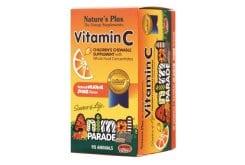 Nature's Plus Animal Parade Vitamin C Ζελεδάκια Βιταμίνης C για Παιδιά, με γεύση πορτοκάλι, 90 gummies