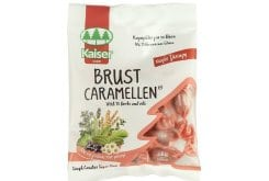 "Image of ""Kaiser Brust Caramellen 60g, Candies for cough with 15 herbs and oils, sugar free"""