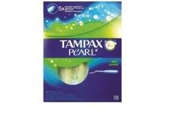 """Εικόνα του """"Tampax Pearl Super, Ταμπόν με απλικατέρ υψηλής απορροφητικότητας , 18 ταμπόν """""""