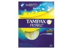 """Εικόνα του """"Tampax Pearl Regular, Ταμπόν με απλικατέρ υψηλής απορροφητικότητας , 18 ταμπόν """""""