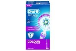"""Εικόνα του """"OralB Ηλεκτρική Οδοντόβουρτσα PRO 600 Cross Action - Colour Edition Ροζ 1 τμχ """""""