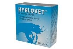 """Εικόνα του """"Hyalovet Υαλουρονικό Νάτριο 0,15%, Οφθαλμικές Σταγόνες, 20 x 0,35ml """""""