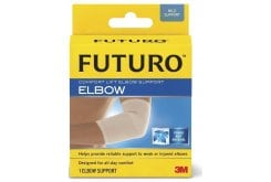 Futuro Comfort Lift Elbow Support, Provides support to stiff, weak or injured elbows. Wear during activities that lead to discomfort.
