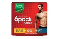 Power Health 6 Pack Extreme - Start, Go, Fit - Φόρμουλα για αποτελεσματικό Αδυνάτισμα στον Άνδρα, 30 caps