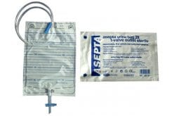 Asepta Urine Bagwith T-valve outlet sterile, Ουροσυλλέκτης με Κάνουλα εκκένωσης αποστειρωμένος 2lt