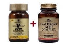 """Εικόνα του """"Solgar ΣΕΤ ΟΛΟΚΛΗΡΩΜΕΝΗΣ ΛΥΣΗΣ για την Κάλυψη του Συνόλου των Αναγκών του Οργανισμού του Σύγχρονου Ανθρώπου με Solgar Formula VM 2000 Πολυβιταμινική Φόρμουλα, 60 tabs μαζί με Solgar Hyaluronic Acid Complex 120mg Υαλουρονικό Οξύ, 30 tabs"""""""