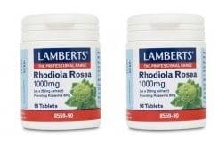 2 x LAMBERTS RHODIOLA ROSEA 1000mg, 2x 90 tabs