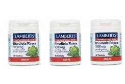3x LAMBERTS RHODIOLA ROSEA 1000mg, 3x 90 tabs