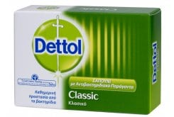 Dettol SOAP CLASSIC, Dettol Μπάρα Σαπουνιού, 100 gr