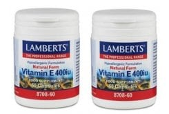 2x Lamberts Vitamin E 400 iu Natural form, 2x 60 caps