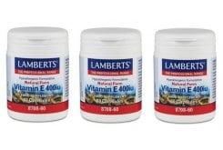 """Εικόνα του """"3x Lamberts Vitamin E 400 iu Natural form, 3x 60 caps """""""