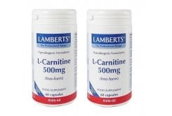 2x LAMBERTS L-Carnitine 500MG NEW HIGHER STRENGTH, 2x 60 caps