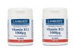 """Εικόνα του """"2x LAMBERTS B12 1000MCG (COBALAMIN), 2x 60 tabs """""""