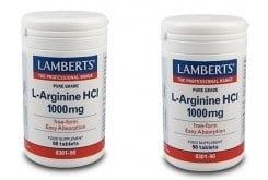 """Εικόνα του """"2x LAMBERTS L-ARGININE HCI 1000mg, 2x 90 tabs """""""