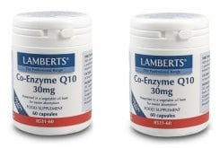 2x LAMBERTS CO-ENZYME Q10 30MG, 2x 60 caps