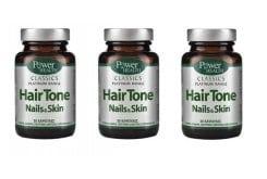 3x Power Health Platinum Hair Tone Nails & Skin, 3 x 30 caps.