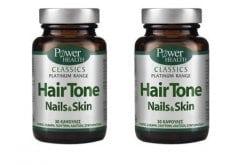 2 x Power Health Classics Platinum Hair Tone Nails & Skin, 2 x 30caps