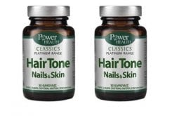 "Εικόνα του ""2 x Power Health Classics Platinum Hair Tone Nails & Skin, 2 x 30caps """